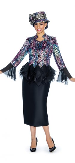 Giovanna, print skirt suit, g1065