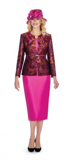 Giovanna, skirt suit, g1066, fuchsia church suit