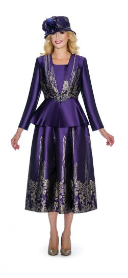 Giovanna, purple skirt suit, g1067