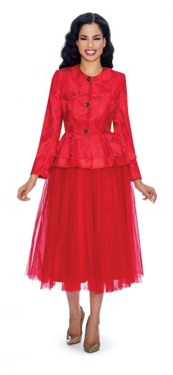 giovanna, red skirt suit, g1080