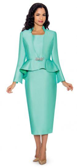 giovanna, mint skirt suit, mint church suit, G1085