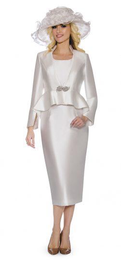 giovanna, white church suit, G1085