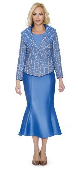 giovanna, blue church suit, G1086