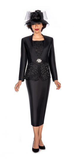 giovanna, g1088, black skirt suit