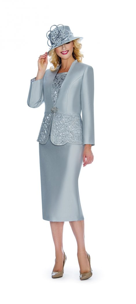 giovanna,g1088, skirt suit, silver skirt suit, silver church suit