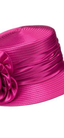 giovanna, h0929, hot pink church hat, pink hat
