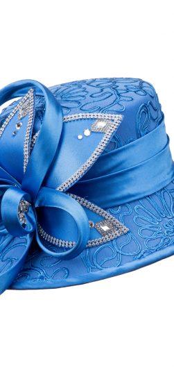 giovanna, church hat, hd1343,ocean blue hat, turquoise church hat