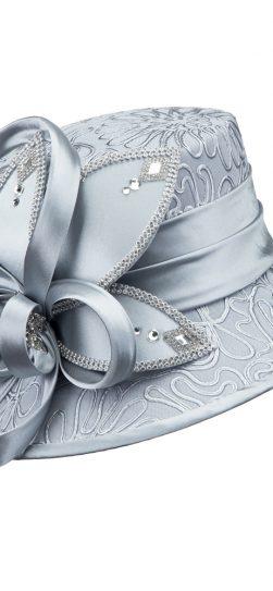 giovanna, church hat, hd1343,silver hat, silver church hat