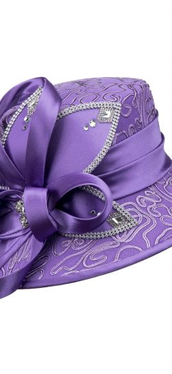 giovanna, church hat, hd1343,violet hat, violet church hat