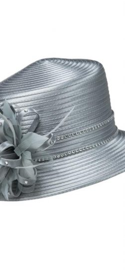 Giovanna,hr1037, satin ribbon hat, cheap hat