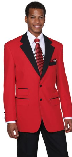 longstry, mens two tone suit, 7022, red-black
