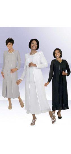 Misty Lane, Usher Suit, White, Black, Silver, Style 13061