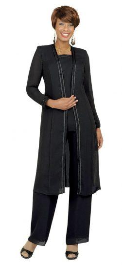 Misty Lane, Pants Suit, Benmarc, Black, Style 13062