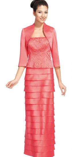 Nina Nischelle, Dress 9505,coiral