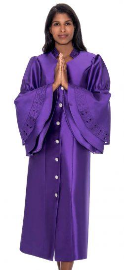 regal robe, choir robe, pastor robe, rr9111, purple robe
