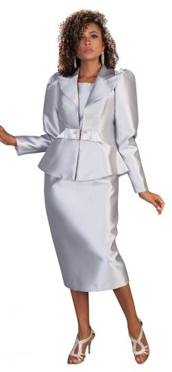 tally Taylor, skirt suit, 4624, silver