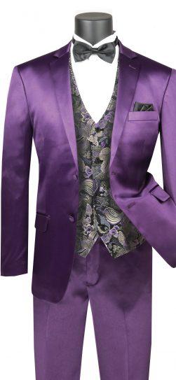 vinci,men's suit, purple mens suit svff-2-purple