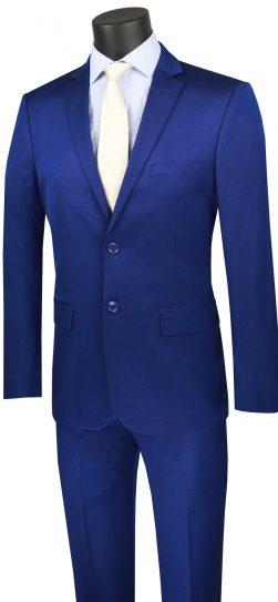 vinci, blue mens suit, US2R-2