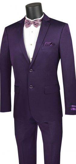 vinci, mens suit. purple mens suit, US2R-2