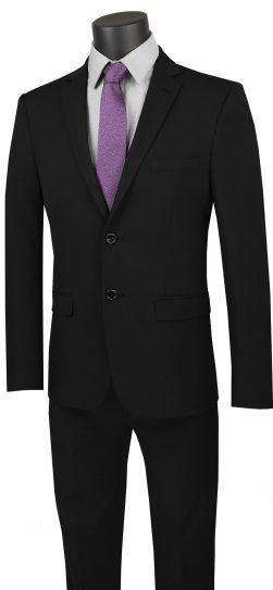 vinci, black 2 piece suit, USDX-1