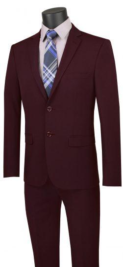 vinci, burgundy mens suit, USDX-1