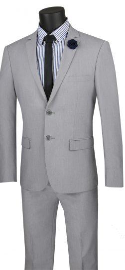 vinci, mens grey suit, USDX-1
