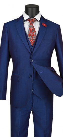 vinci, mens blue suit, USVD-1-blu