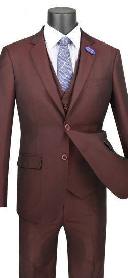 vinci, mens suit, raisin color mens suit, USVD-1