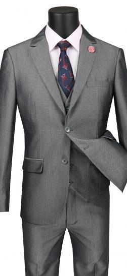 vinci, mens grey suit, usvd1-gr