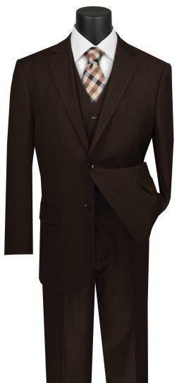 vinci, mens brown suit, v2rs-7-brn