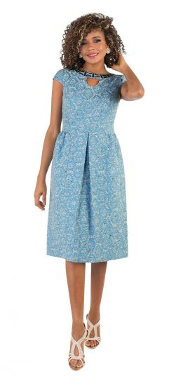 chancele, baby blue dress, 9495