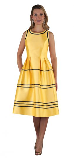 chancele, dress, 9509, yellow summer dress