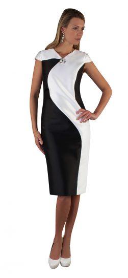 chancele, dress, 9516, black-white dress