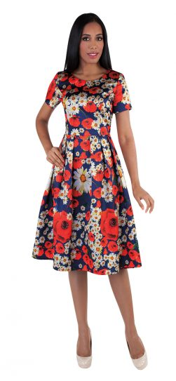 chancele, 9519, print summer dress