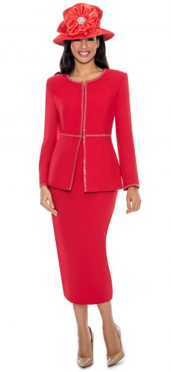 giovanna, 0652, red skirt suit