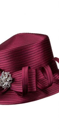 Giovanna, satin ribbon hat, chuch hat, cheap church hat, hr1056