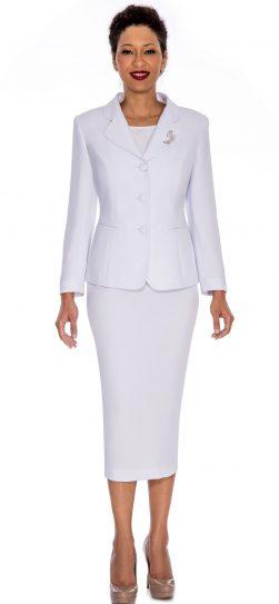 Giovanna,0824,white, skirt suit