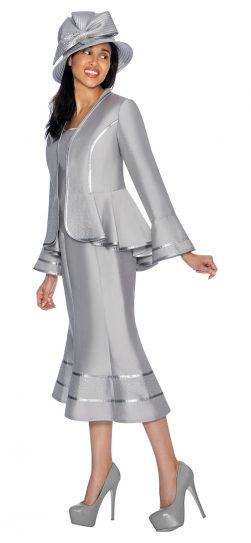 gmi, 7023, silver skirt suit