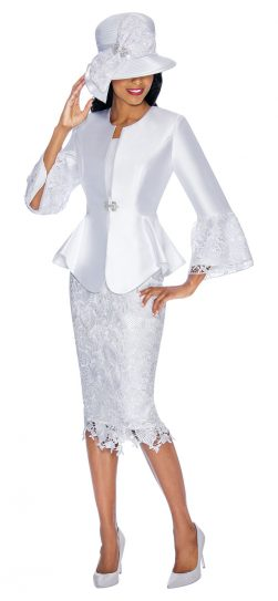 gmi,g7032,white skirt suit, plus size white skirt suit