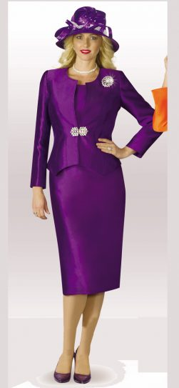 lily and taylor, skirt suit, 3632, purple skirt suit