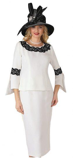 lily & taylor, style 4345, ivory-black, black-black, size 4-24