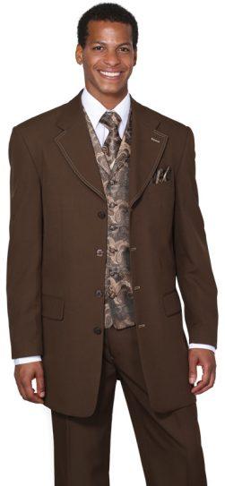 longstry,mens suit, brown mens suit, 6903V-br