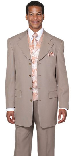 longstry, 6903V-tan mens suit