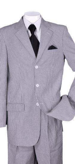 longstry, mens seersucker suit, black seersucker, st802-blk