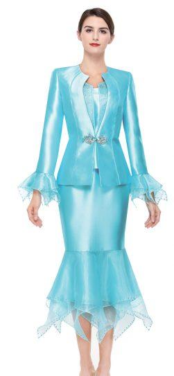 serafina,skirt suit, turquoise