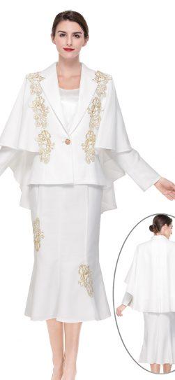 serafina.skirt suit, 3908, ivory-gold, cape suit
