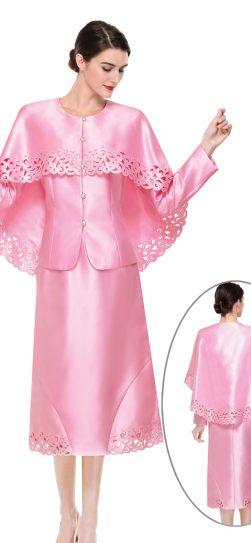 serafina,cape suit, pink cape suit, 3909