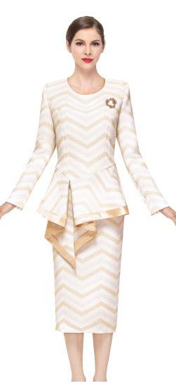 serafina,skirt suit,3916,gold skirt suit