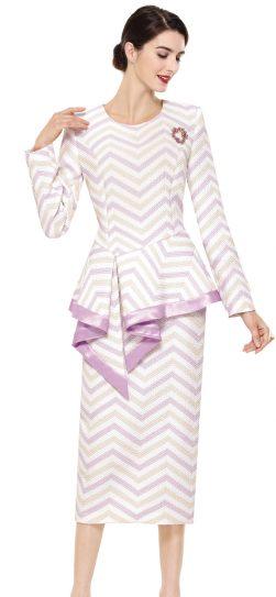 serafina,skirt suit,3916, lilac