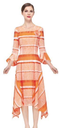 serafina, dress, 6167,orange stripe dress